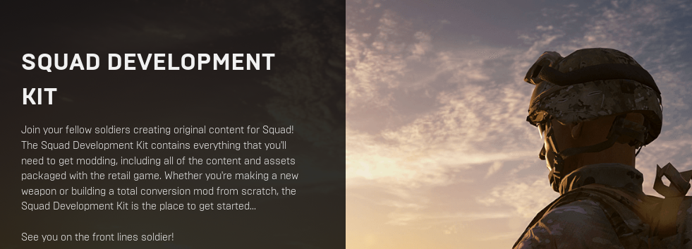 Squad Development Kit V12がリリース - ゲームを作ったり作ら
