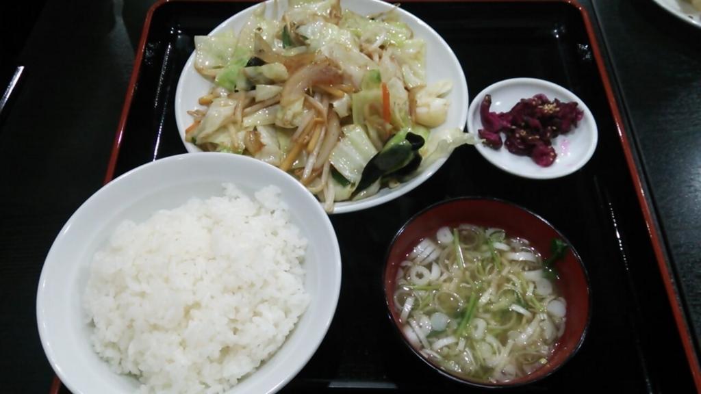 めんめんの野菜炒め定食