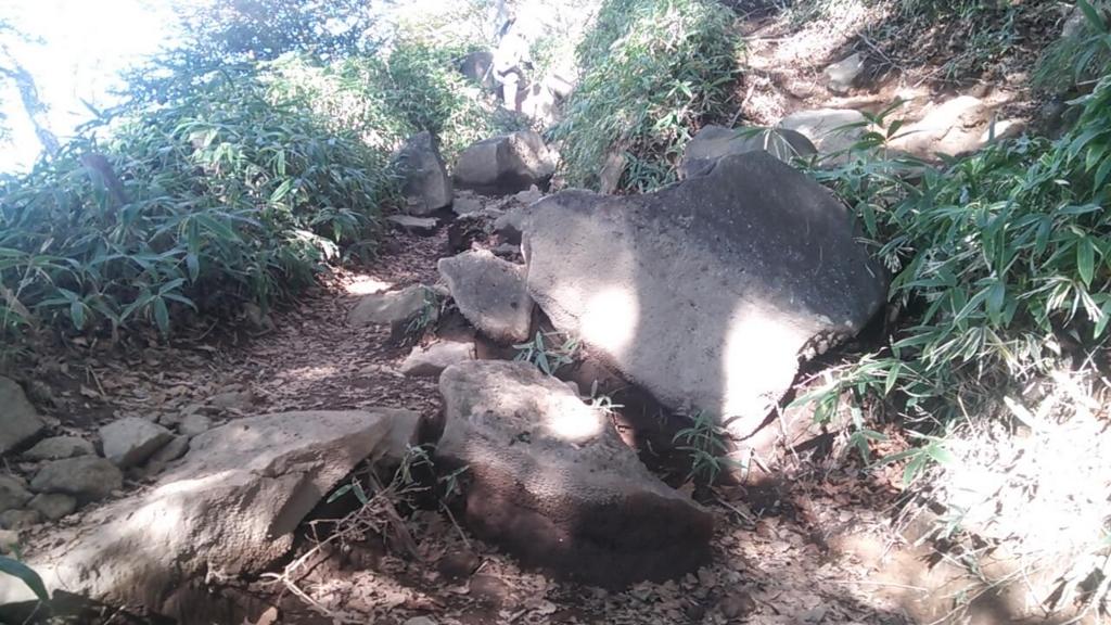 四合目の岩