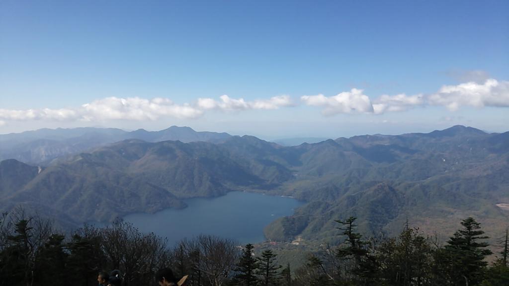 男体山頂前からの景色