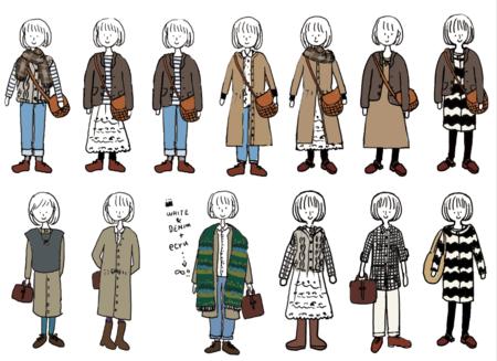 「秋服 イラスト」の画像検索結果