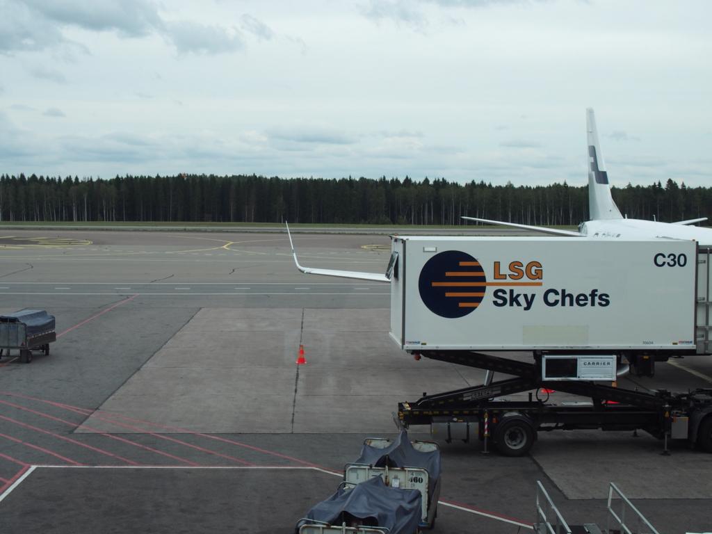 ヘルシンキ空港に降りた降りたところ