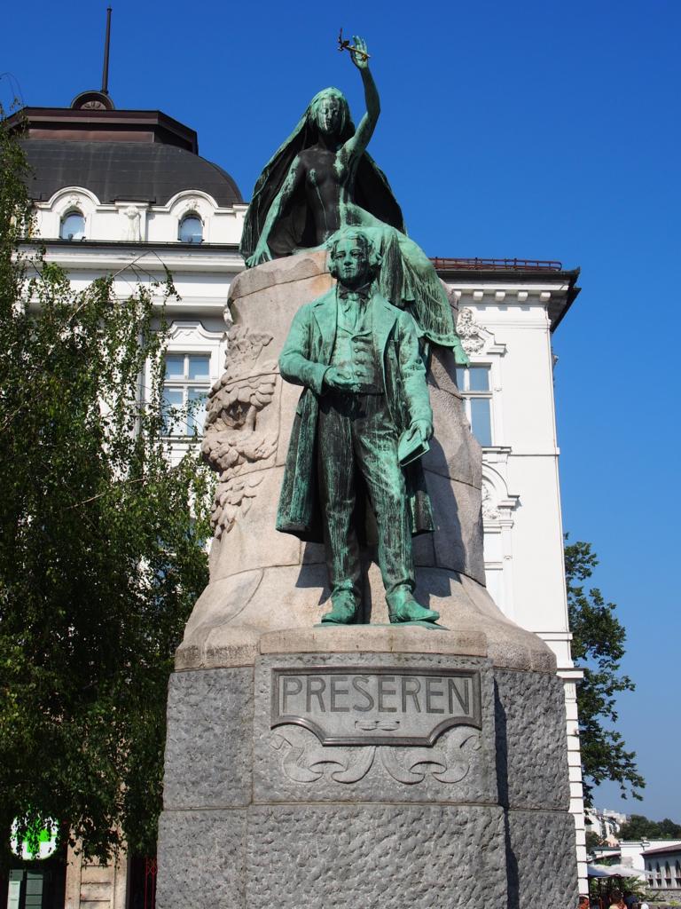 リュブリアーナの銅像