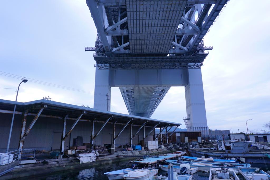 下から見る瀬戸大橋