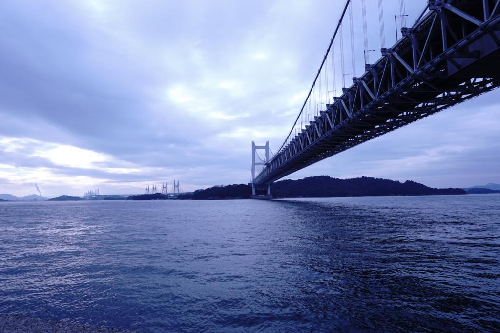 島に伸びていく瀬戸大橋