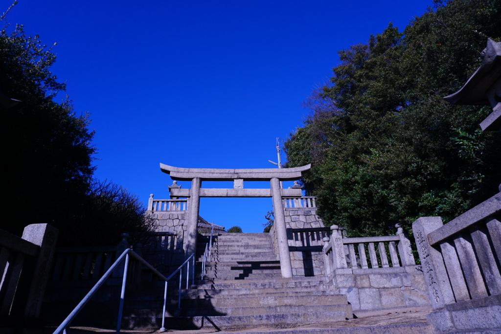 下津井の祇園神社の階段