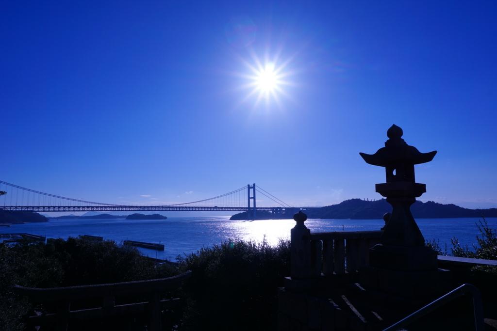 下津井の祇園神社からの風景