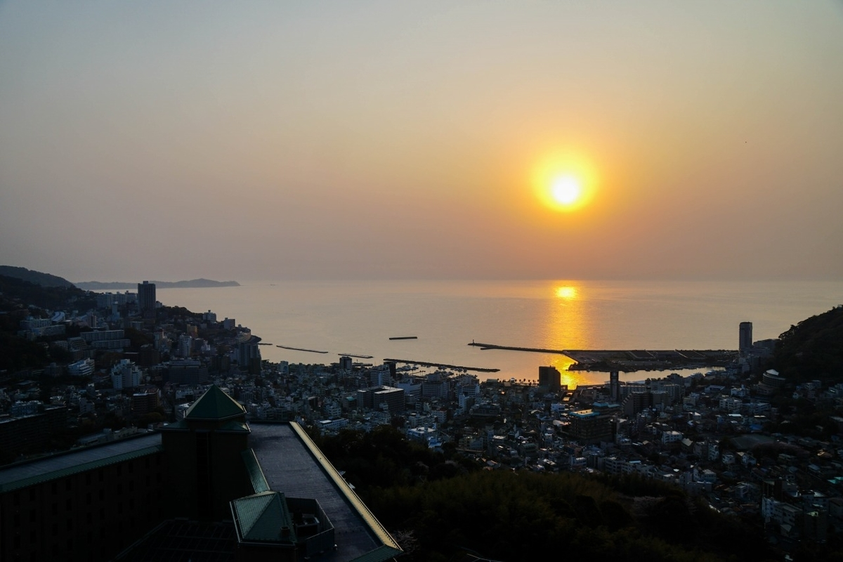 リゾナーレ熱海からの朝日