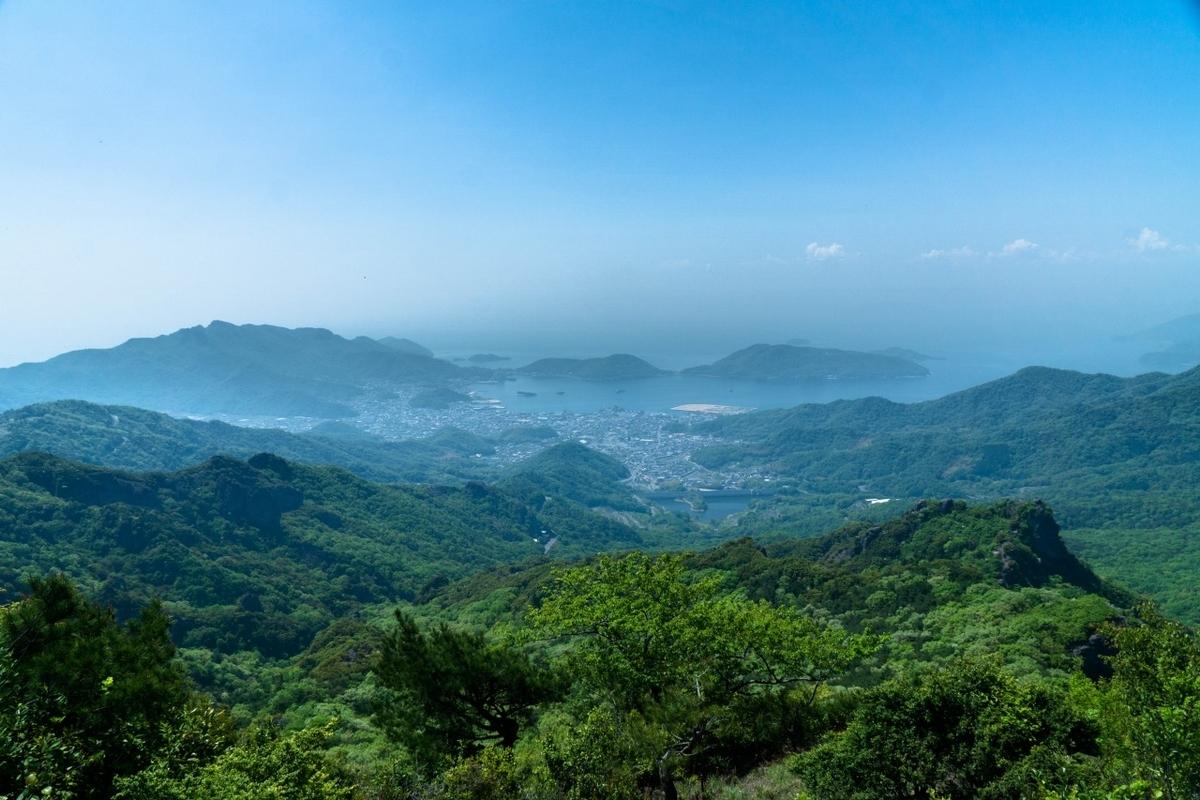 小豆島・寒霞渓からの風景