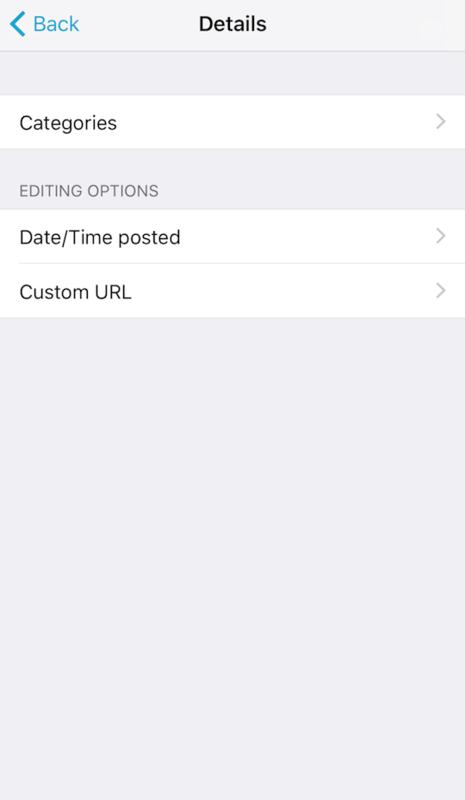 はてなブログアプリでできること。カスタムURLと予約投稿時間の設定はできます