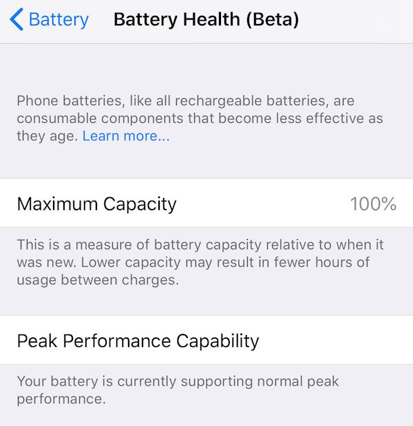 バッテリー交換後のバッテリー状態