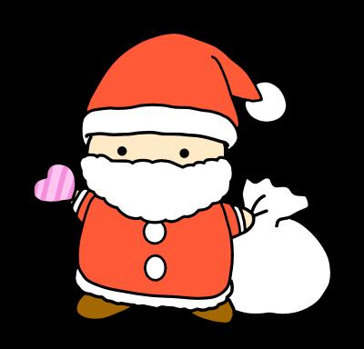 サンタ かわいい 手書き プレゼント 袋 クリスマス オリジナルデジタルイラスト 天