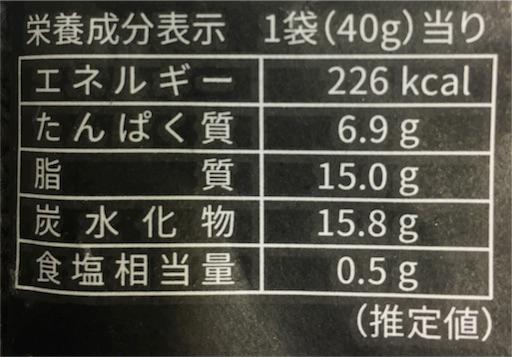 デスミックス-栄養成分表示