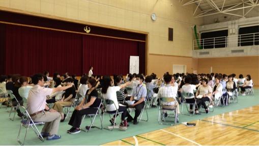 羽島市特別支援学校ビジョントレーニング講座の様子①