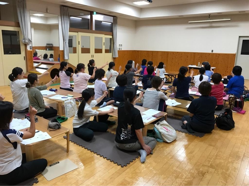 池田町ビジョントレーニング講座の様子