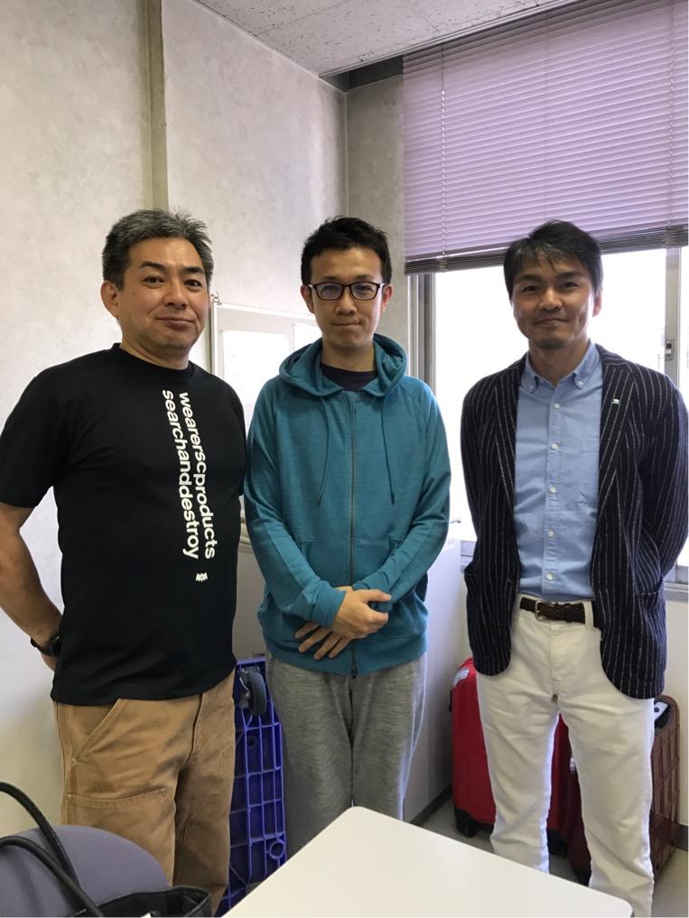 飯田覚士さん岸先生とのスリーショット