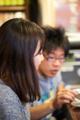 [食][拉麺][Nikkor][AFS105mmF2.8GMicroEDVR][macro][VR]かわいい大学生カップル