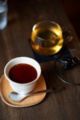 [食][喫茶][Nikkor][AFS85mmF1.4G]焙じ茶プリンと焙じ茶