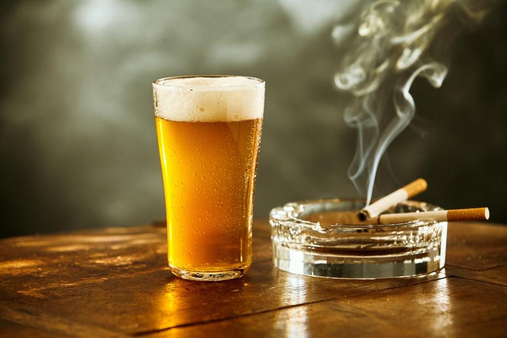 ビールとタバコ