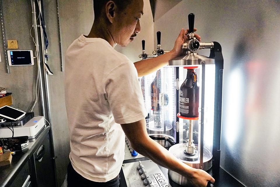 クラフトビール瓶詰専用機