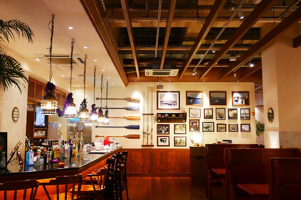 シーフードレストラン・レッドロブスター沖縄国際通り店の内観