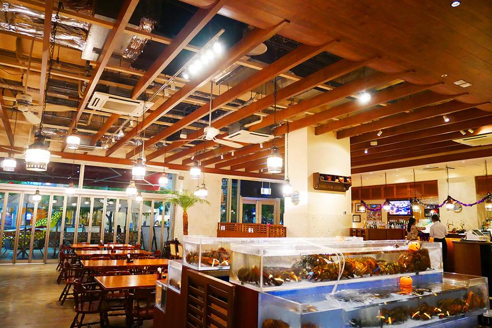 レッドロブスター沖縄国際通り店の店内