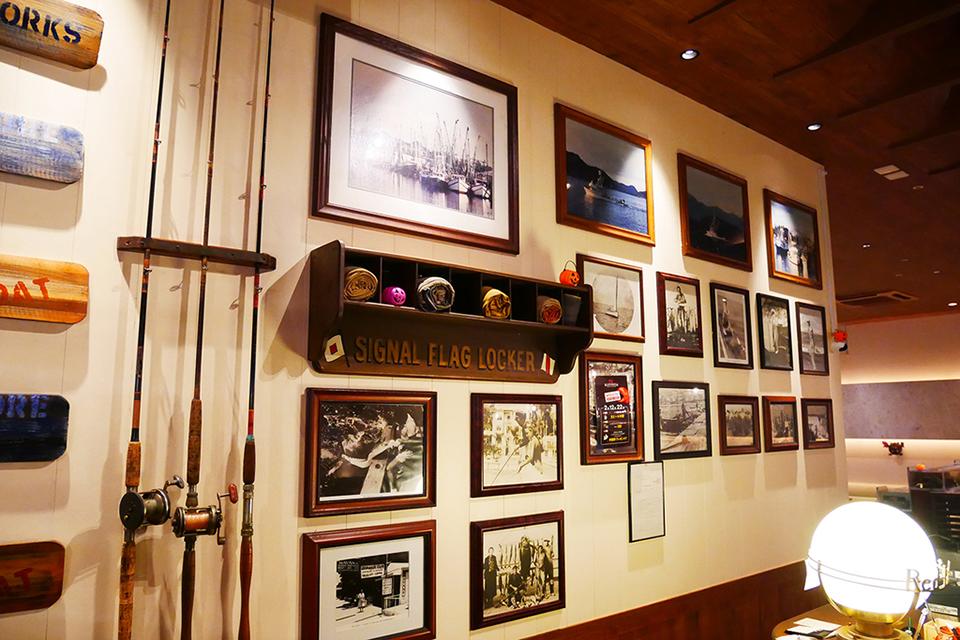 レッドロブスター沖縄国際通り店のアメリカンな雰囲気漂うエントランス