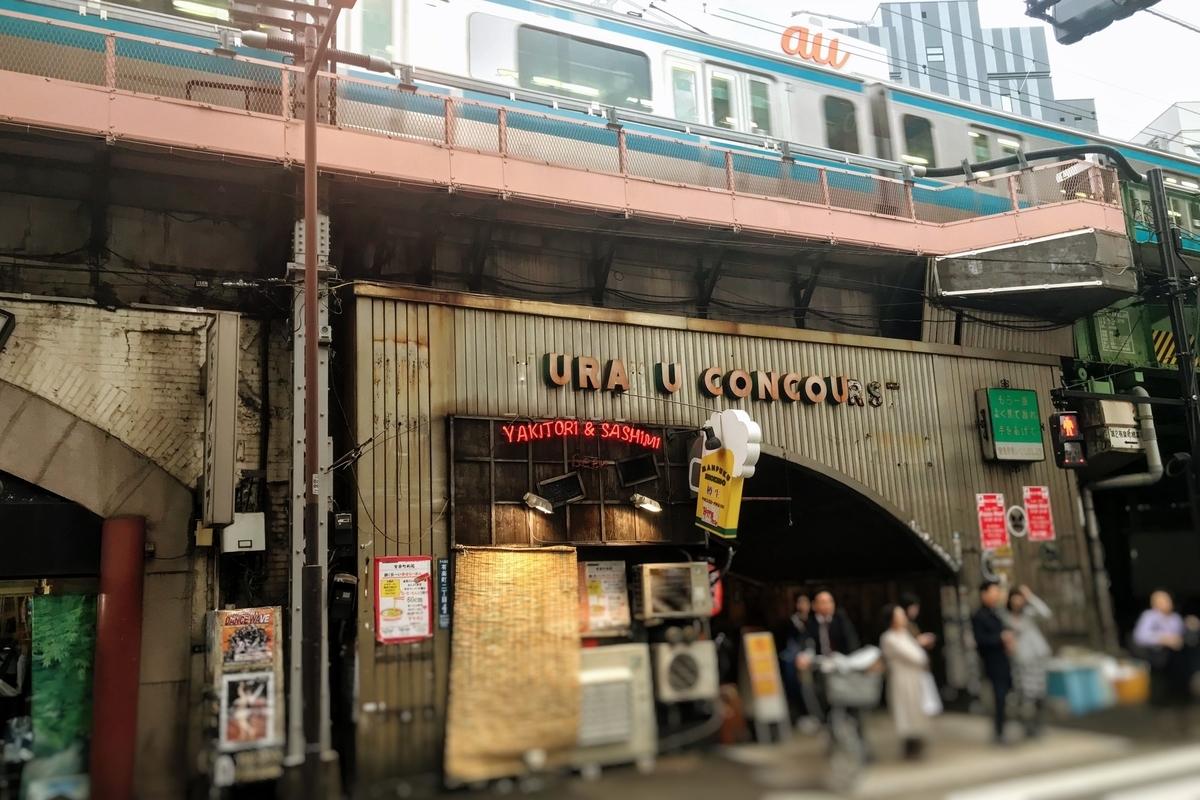 有楽町駅近くの京浜東北線のガード下