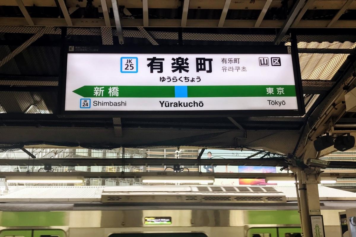 有楽町駅ホーム