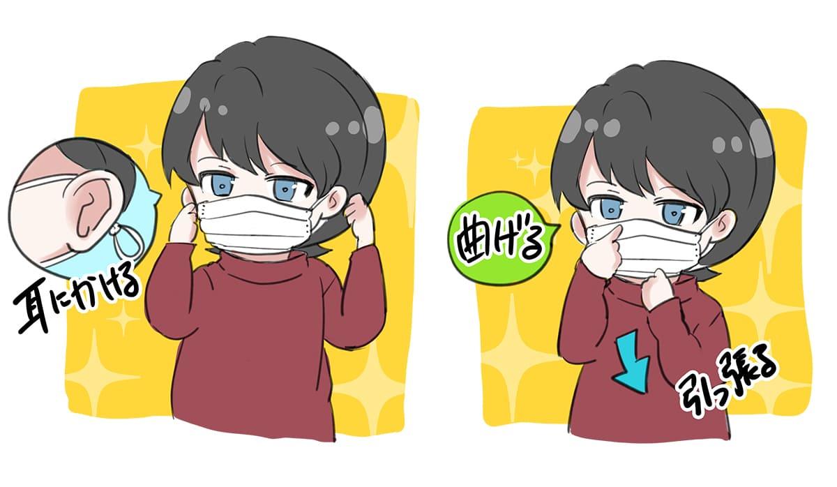 マスク 着用方法