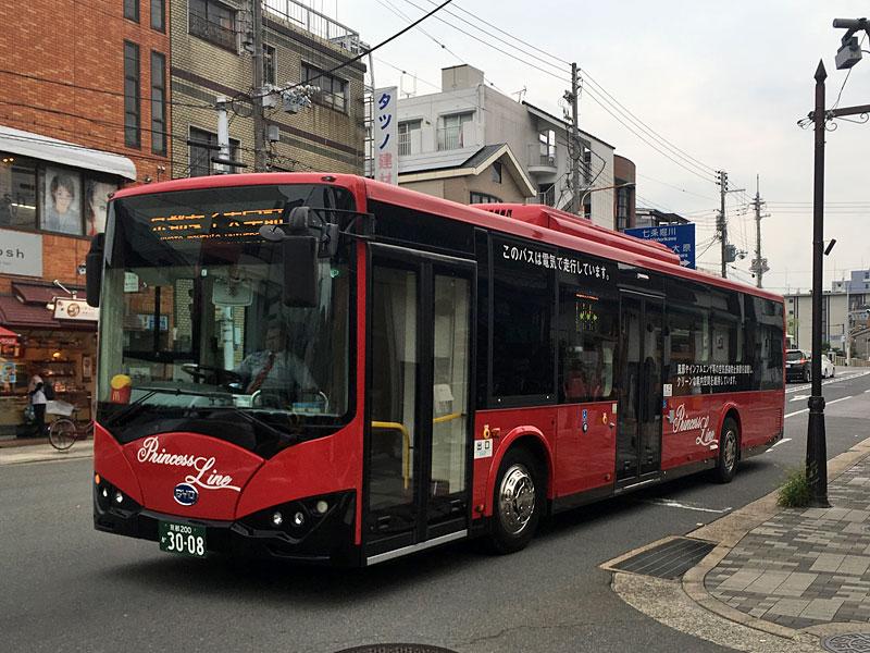 中国BYD製のバス