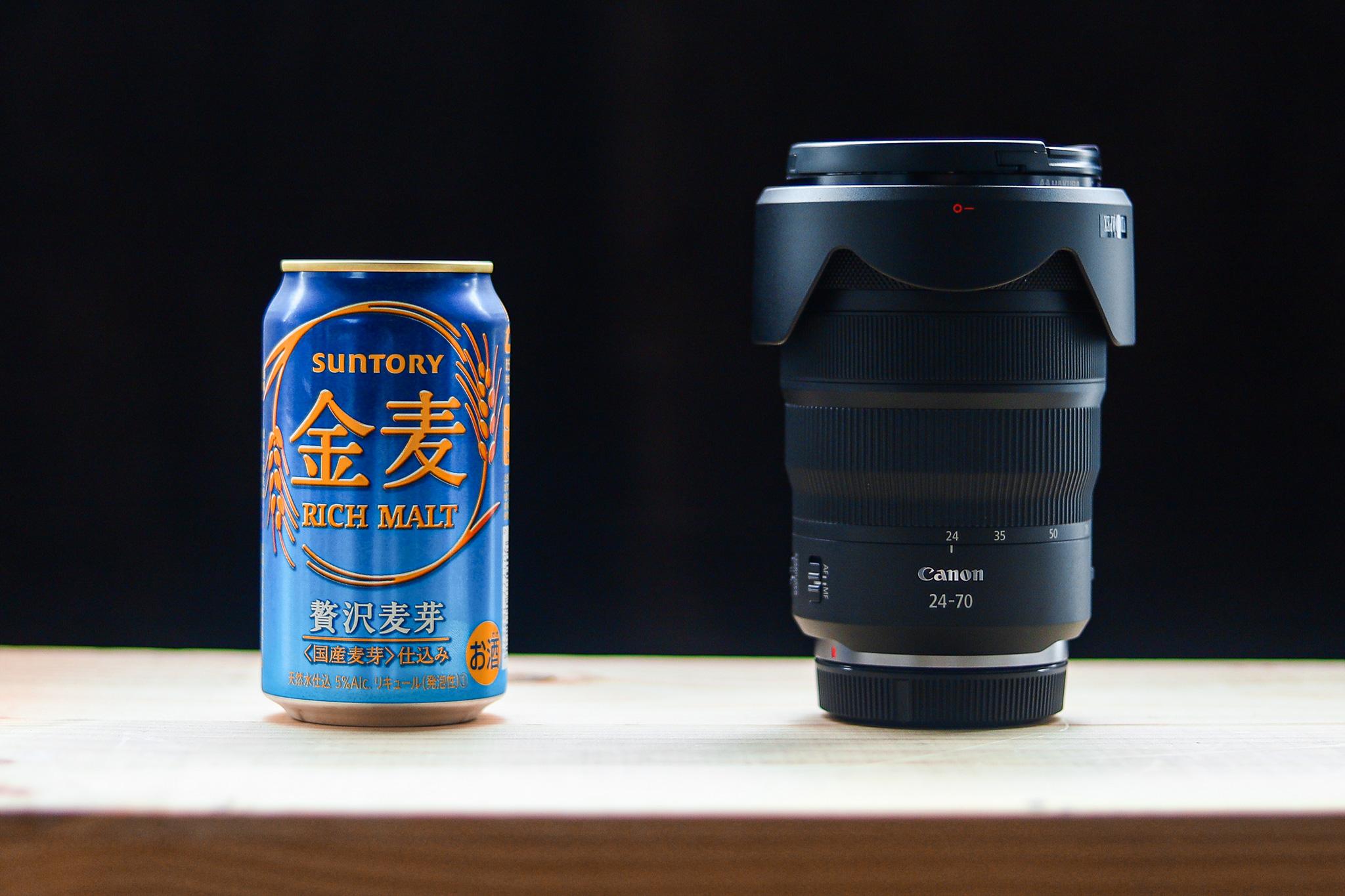 350ml缶とのサイズ比較画像