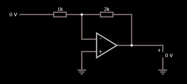 反転増幅回路作成図
