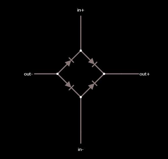 公式の全波整流回路