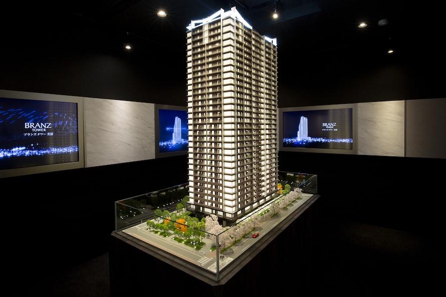 ブランズタワー芝浦の模型