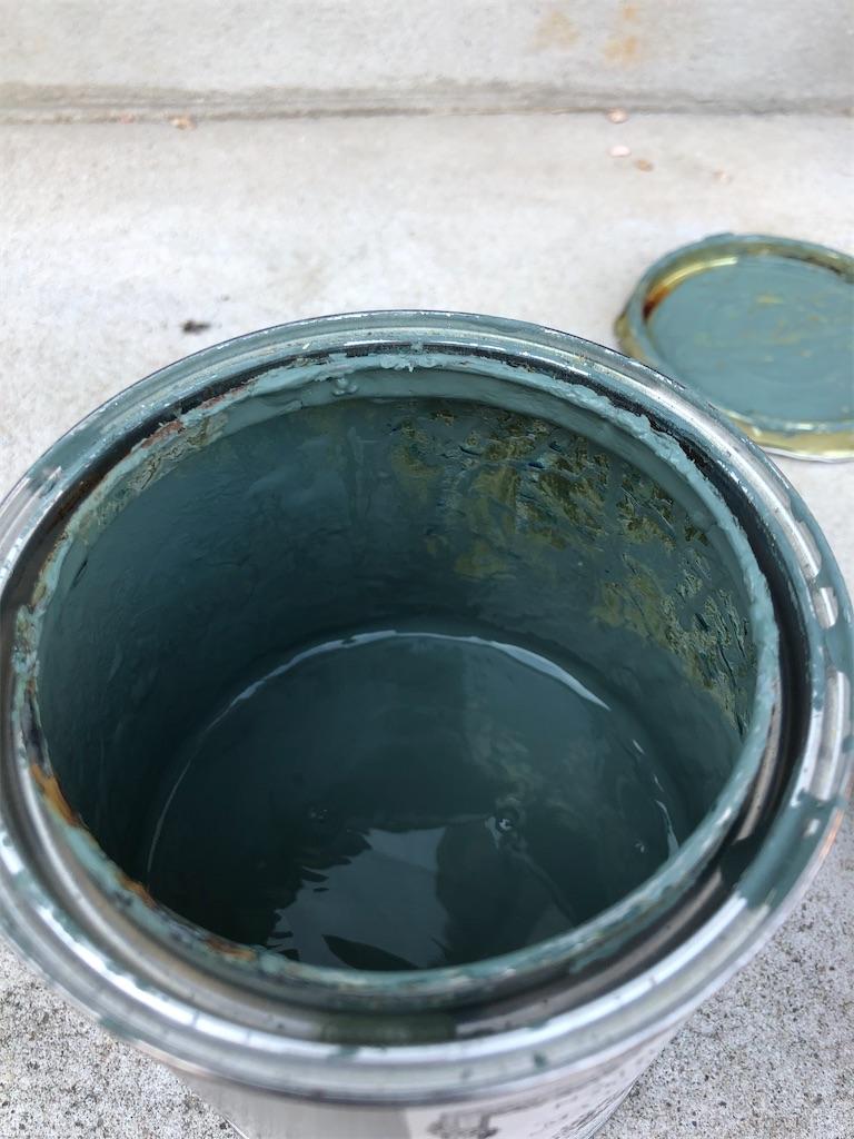 夏水組セレクションの塗料。グリーン。中身。残量確認。