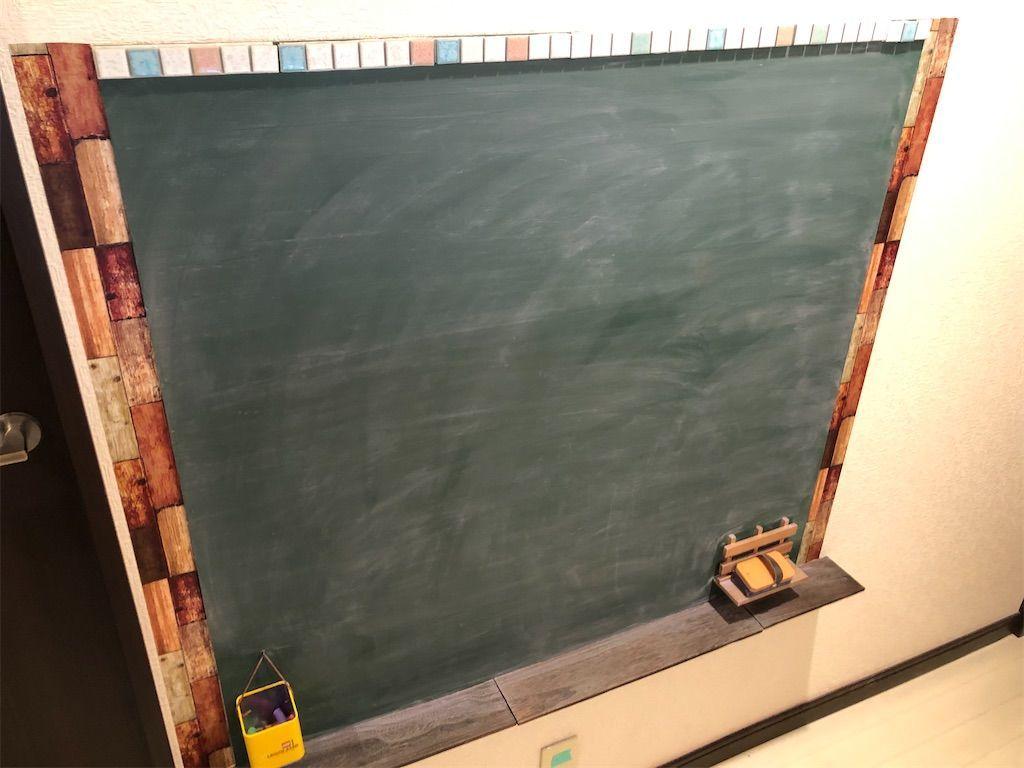 黒板DIY。100均リメイクシートで装飾