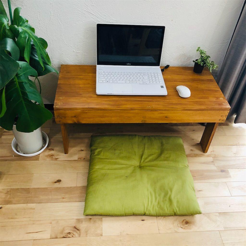 DIY。パソコン作業スペースのミニテーブル