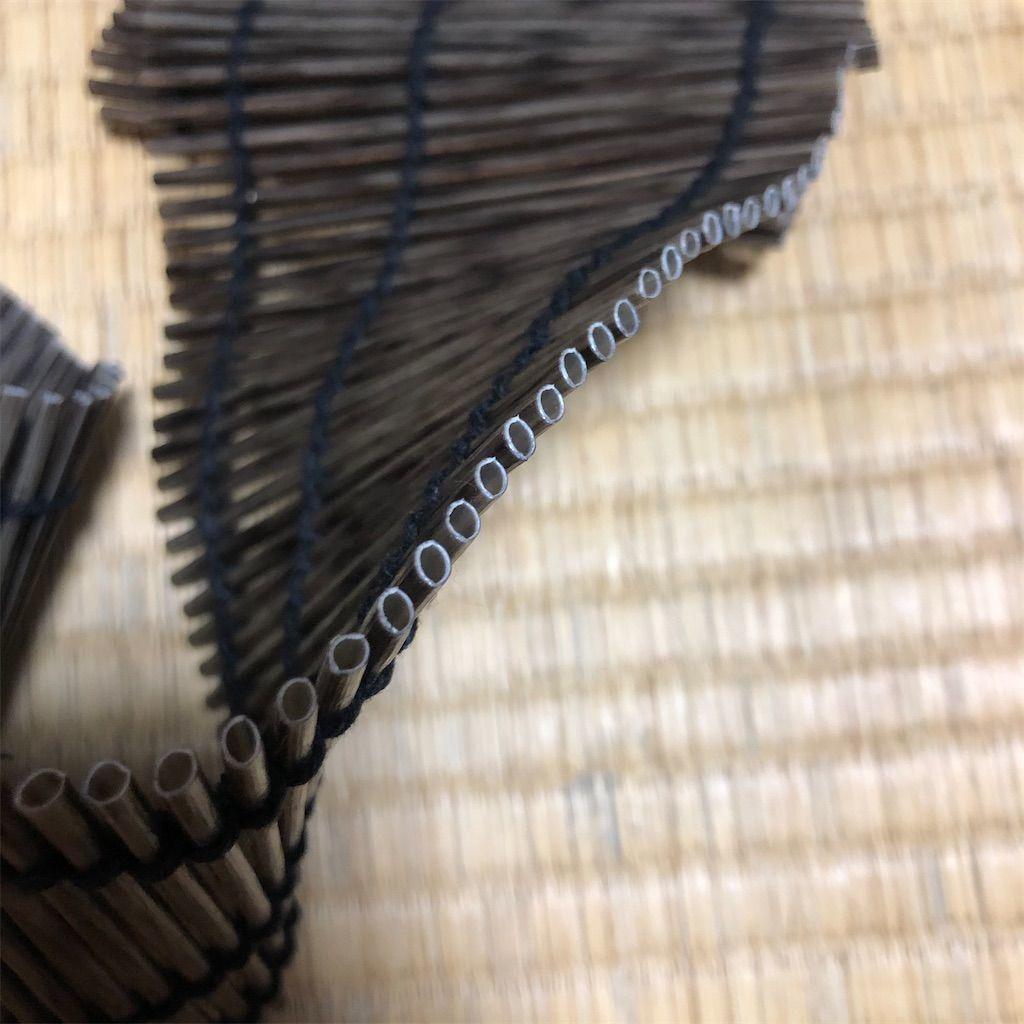 樹脂製簾の断面