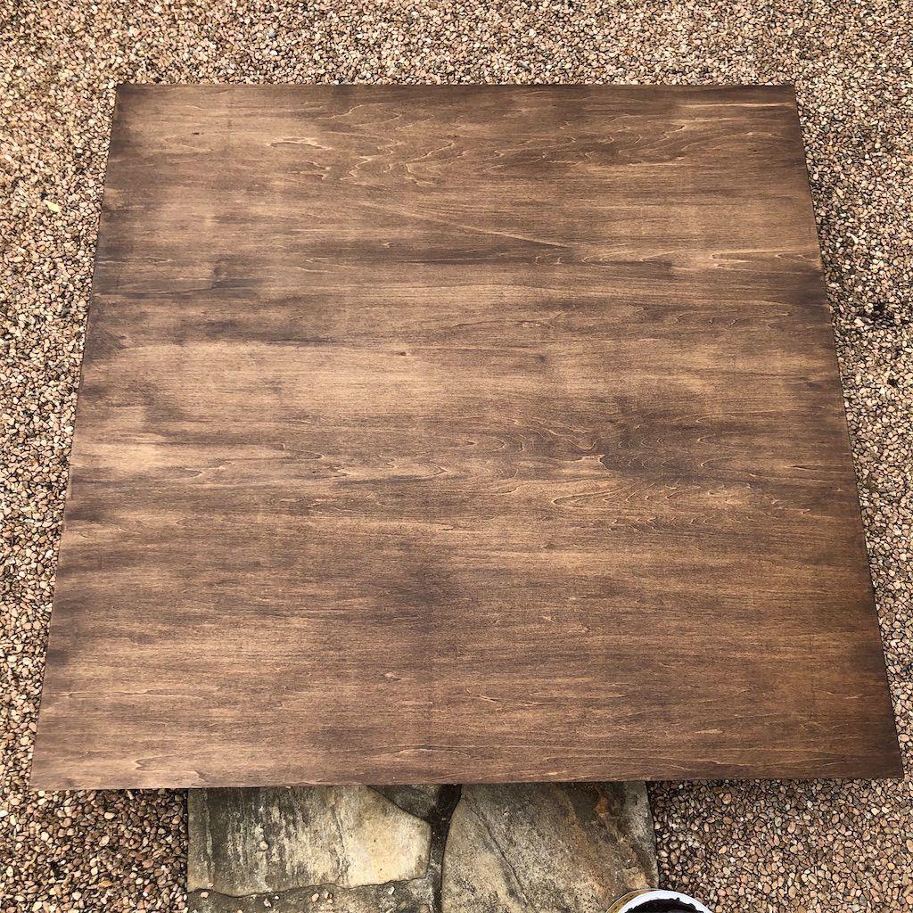 オールドウッドワックスを塗ったベニヤ板