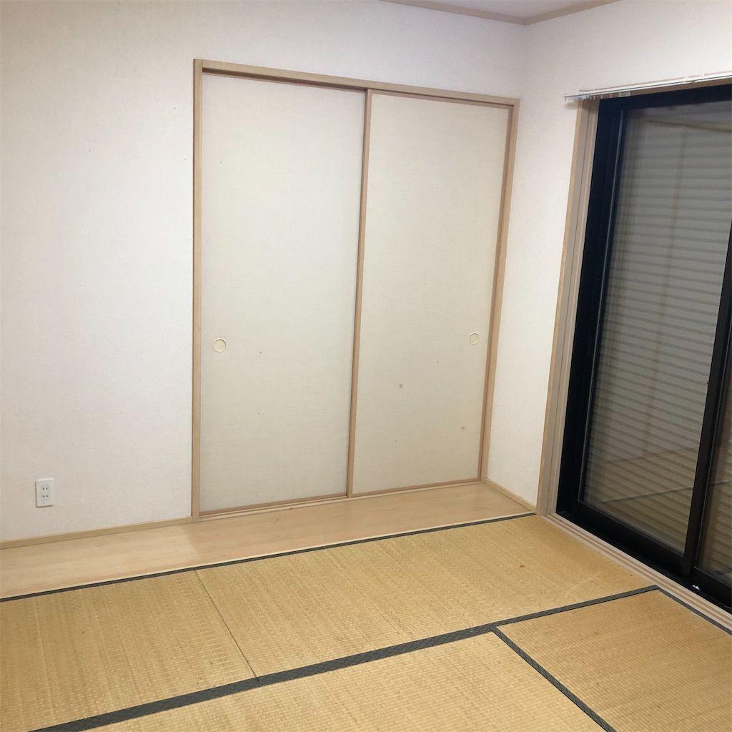 和室を洋室にDIYし、バー風の雰囲気に大改造!DIY前の和室。