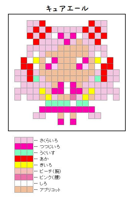 『キュアエール』のアイロンビーズ図案
