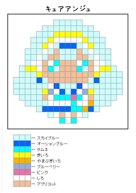 『キュアアンジュ』のアイロンビーズ図案