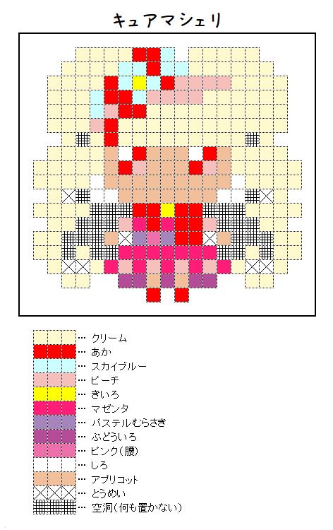 『キュアマシェリ』のアイロンビーズ図案