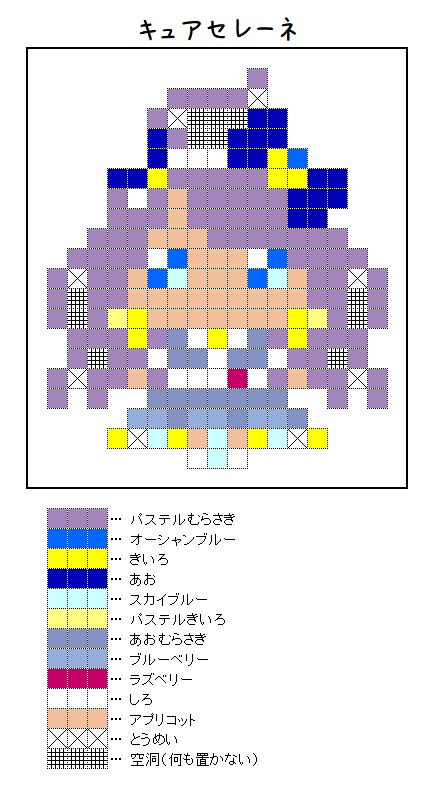 『キュアセレーネ』のアイロンビーズ図案