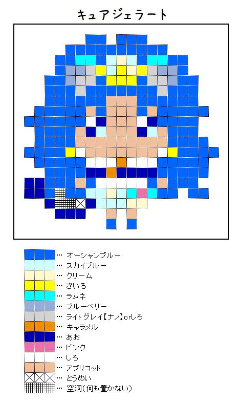 『キュアジェラート』アイロンビーズ図案