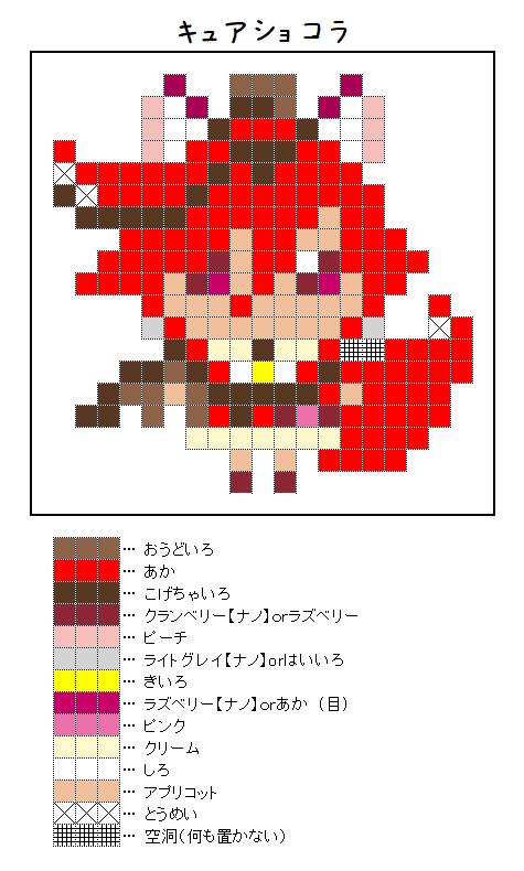 『キュアショコラ』のアイロンビーズ図案