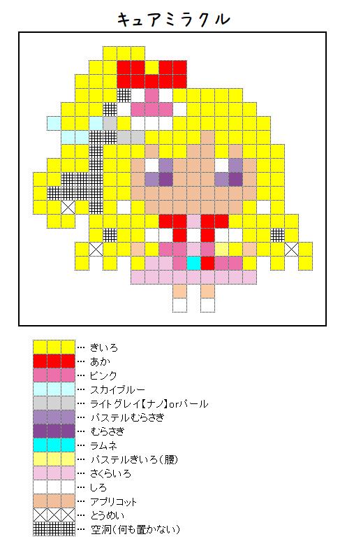 『キュアミラクル』のアイロンビーズ図案