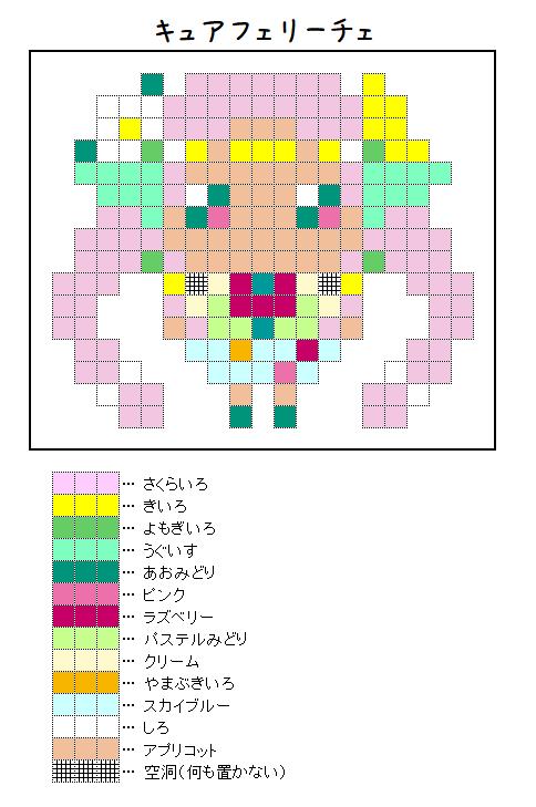 『キュアフェリーチェ』のアイロンビーズ図案