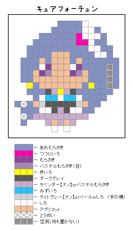 『キュアフォーチュン』のアイロンビーズ図案